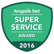Super Service Award from angie's list for our industry