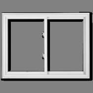 Two-lite Slider Windows