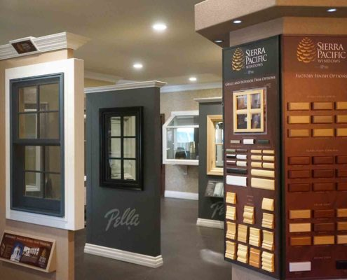 Inside of our Window Installation Company showroom near Placentia