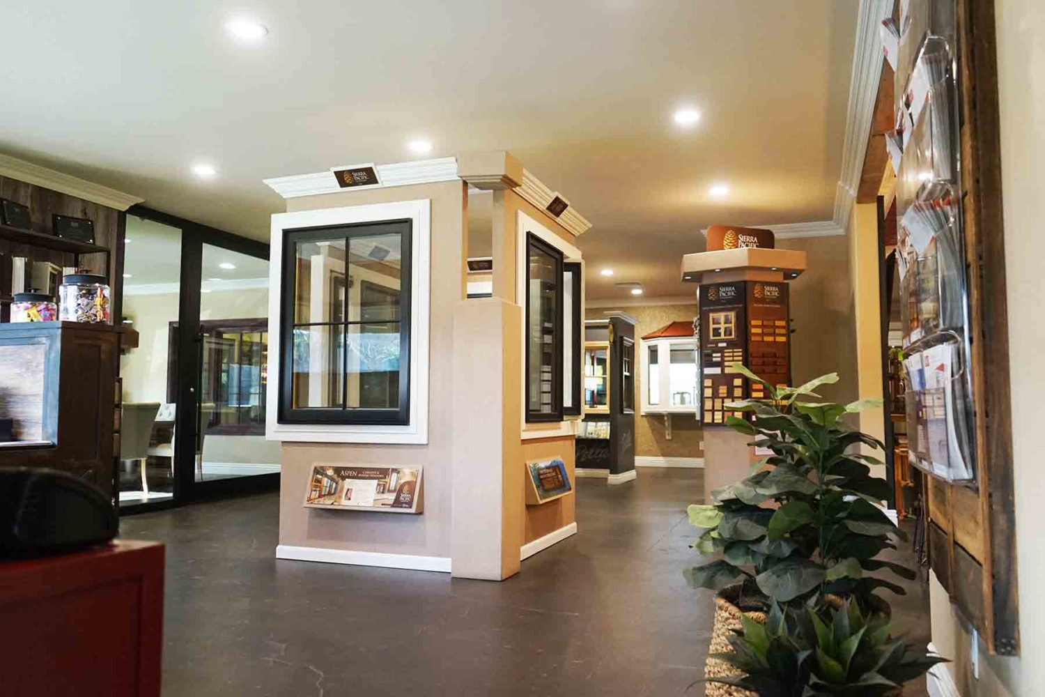 Our main lobby in our window installation company's showroom