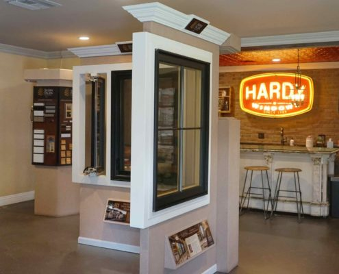 Our Hardy Windows Installation Company logo neon sign