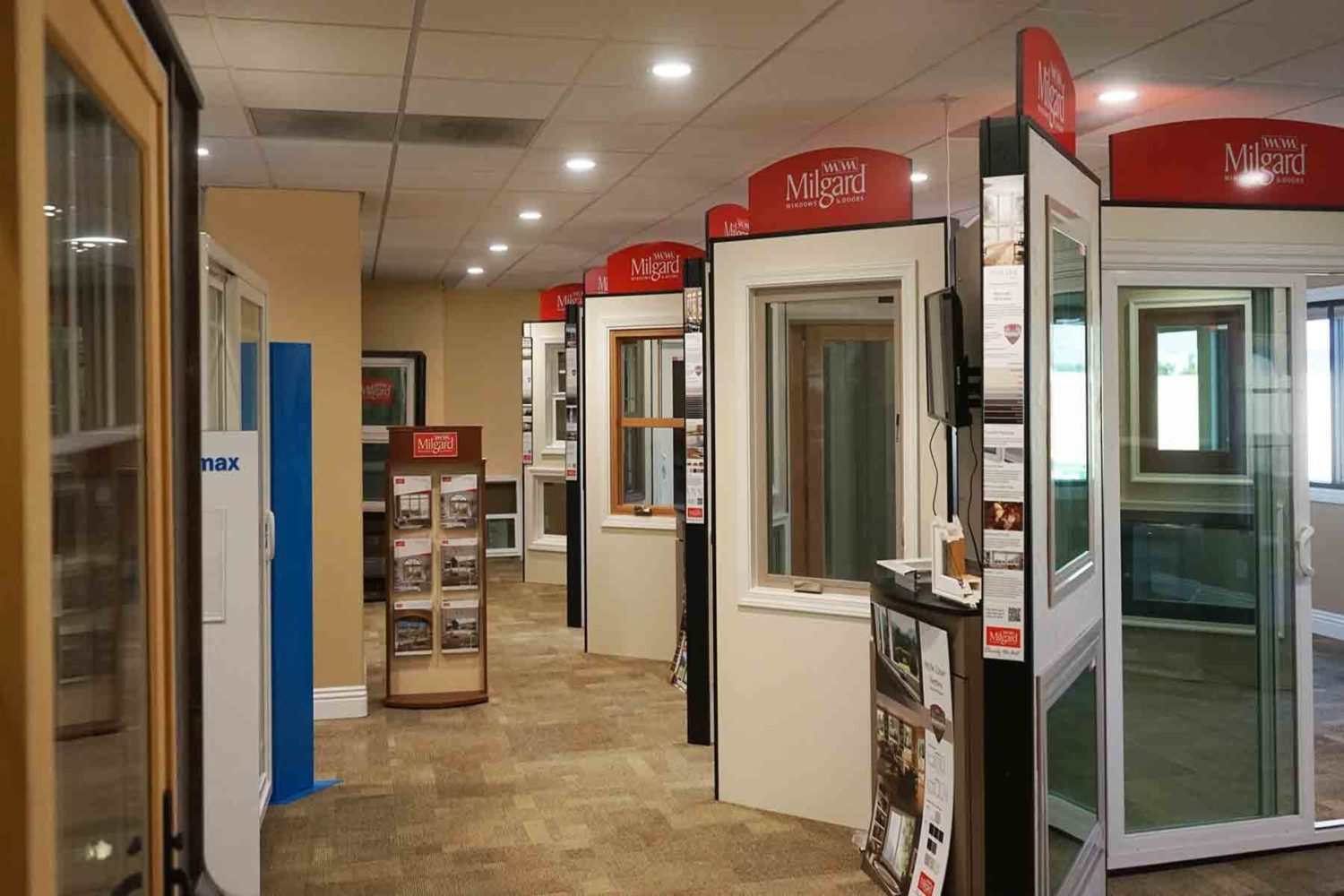 Our Milgard products in our showroom.