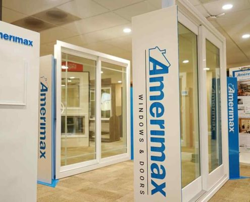 1 of 2 pictures of our amerimax section of our showroom