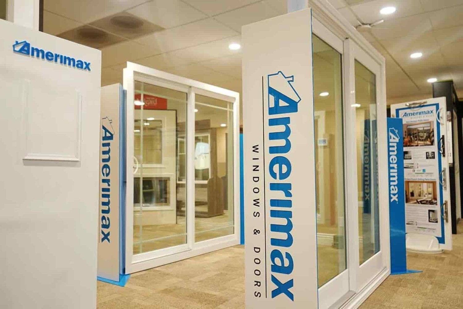 Our amerimax section of our window and door showroom