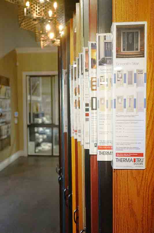 Our ThermaTru doors that we carry in our showroom